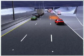 forensic animation sequence #1 of vehicle path by Illinois State Police